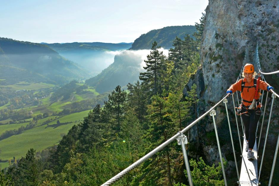 Aprem excursion: via ferrata en Lozère